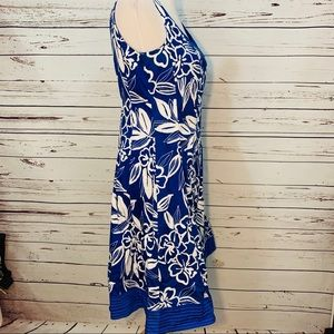 Dorby Dresses - {DORBY} Blue & White Hawaiian Floral Dress